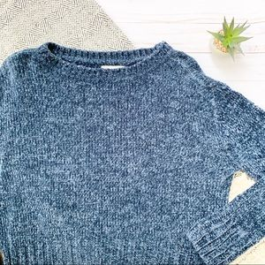 Altar'd State Chenile Navy Cozy Sweater Size S